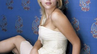 Scarlett Johansson in White Dress