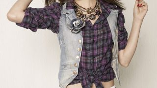 Selena Gomez in Check Shirt - Photo #1