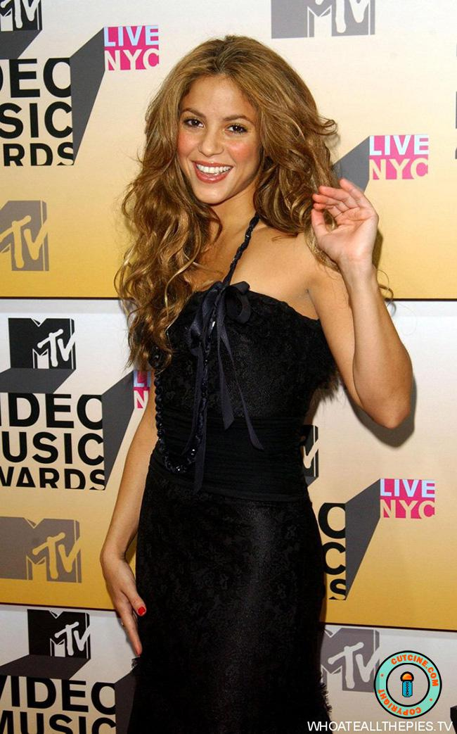 Shakira in Black Dress