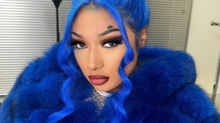 Megan Thee Stallion in All Blue in her birthday