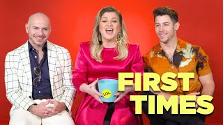Pitbull, Kelly Clarkson and Nick Jonas talk about their First Red Carpet